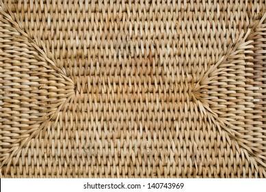 Bottom of woven rattan basket