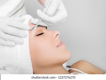 botulinum toxin injection on eye area, for lifting skin around eyes, mesotherapy