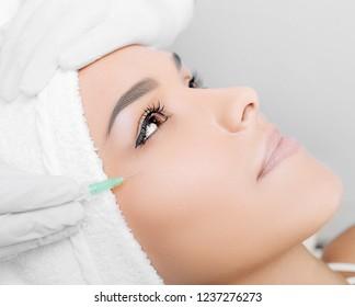 botulinum toxin injection on eye area, for lifting skin around eyes