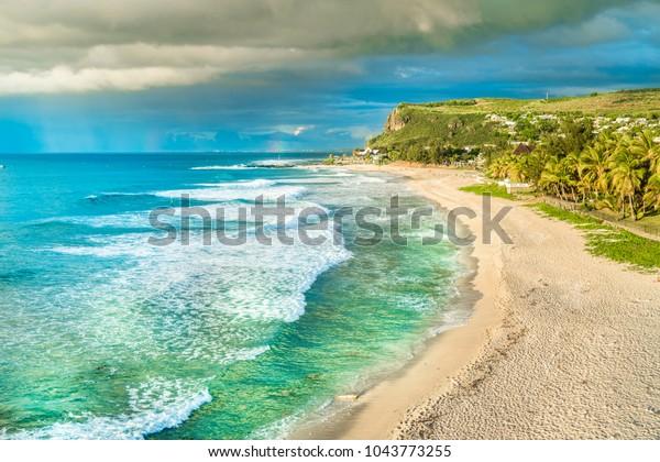Boucan Canot Beach at Reunion Island, Africa