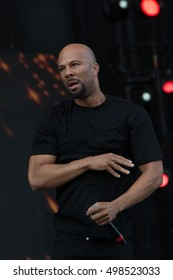 Bouckaert Farms, Chattahoochee Hills, Fairburn, Georgia, US - Oct 2,2016: Common raps at Inaugural â??Many Rivers To Crossâ?� â?? the largest Music and Arts Festival dedicated to racial and social justice.