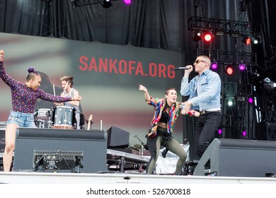 Bouckaert Farms, Chattahoochee Hills, Fairburn, Georgia, US - Oct 1,2016: Macklemore at Many Rivers to Cross Music Fest