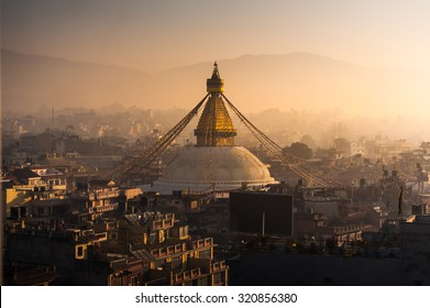 Boudhanath in Nepal morning Sunrise
