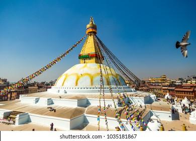 Boudhanath in Nepal (The Biggest Tibetan temple in Nepal)