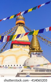 Boudhanath Stupa a Buddhist temple which is an UNESCO World Heritage Site located in Kathmandu Nepal