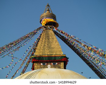 Boudhanath Stupa in Kathmandu in Nepal. 23.01.2011