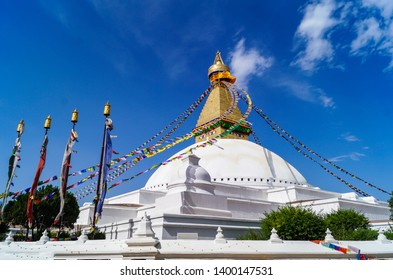 Boudhanath is a stupa in Kathmandu,Located about 11 km from the center and northeastern outskirts of Kathmandu, the stupa's massive mandala makes it one of the largest spherical stupas in Nepal.