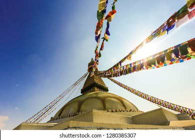 Boudhanath Stupa is located about 11 km (6.8 mi) from the center and northeastern outskirts of Kathmandu, the stupa's massive mandala makes it one of the largest spherical stupas in Nepal.