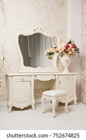 Boudoir. Luxurious interior in the vintage style