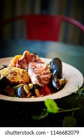 Bouillabaisse, fish stew