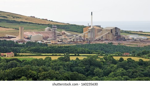 Boulby Potash Mine on the NE coast of England is the second deepest mine of any kind in Europe. It has a network of underground roads extending under the North Sea, totalling 1,000 kilometers (620 mi)