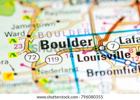 Boulder Colorado USA On Map Stockfoto (Jetzt bearbeiten) 796080355 ...