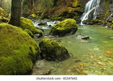 Boulder Creek in the Washington State Cascade Mountain Range