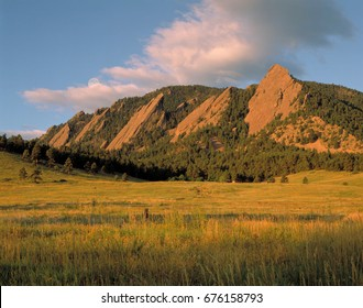 The Boulder Flatirons from Chautauqua park.