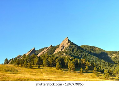 Boulder Flatirons on a bright sunny day - Super High Resolution Image