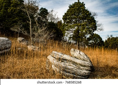 A boulder view of life. Wade Mountain, Devil's Racetrack Trail. Huntsville, Alabama.