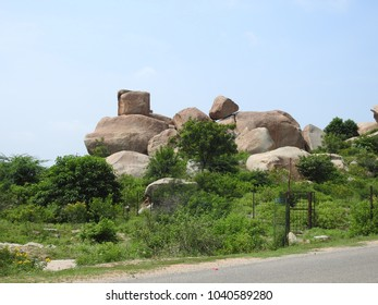 Boulders of Hampi. The Hampi's boulder strewn landscape is one of the oldest exposed surfaces on earth