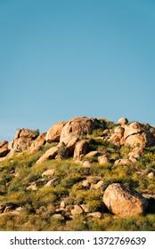 Boulders on top of Mount Rubidoux in Riverside, California