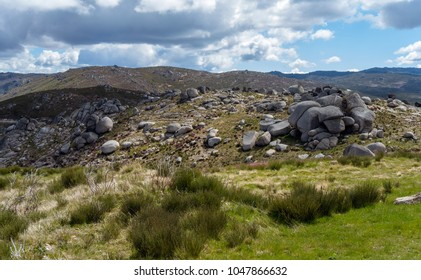 Boulders rocks of the Sierra de Estrella portugese national park