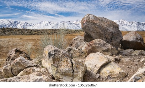 Boulders and Sierra Mountains