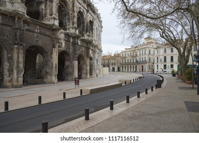 Boulevard des Arena and Charles de Gaulle Square - Nimes - Camargue - France