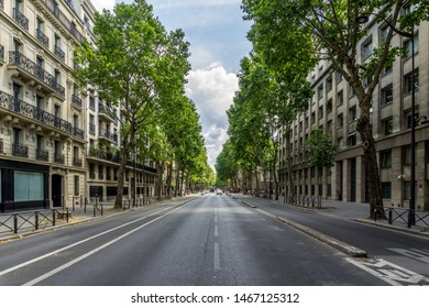 The Boulevard Saint-Germain—a major street in Paris on the Left Bank of the River Seine.