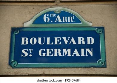 Boulevard St-germain Street in Paris