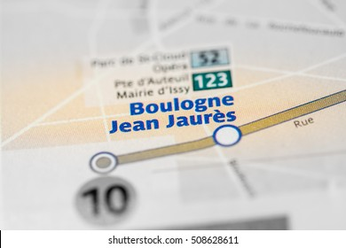 Boulogne Jean Jaures Station. 10th Line. Paris. France