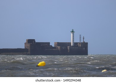 Boulogne-sur-mer, France - August 2019 : Lighthouse