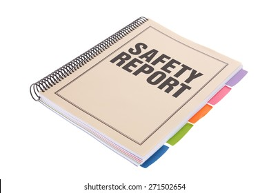 Bound Document on White Background - Safety Report