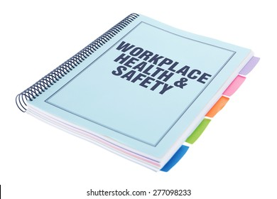 Bound Document on White Background - Workplace Health and Safety