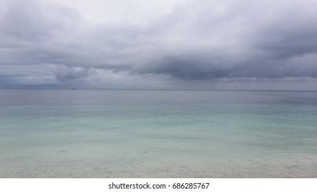 Boundless sea and sky at Carabao Island, Romblon, Philippines
