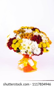 A bouquet of allsorts from chrysanthemums