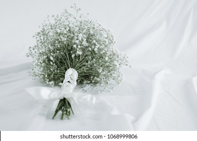 Bouquet of baby's breath (or Gypsophila), white color for wedding ceremony