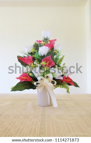 Shutterstock & Bouquet Beautiful Artificial Flowers Vases On Stock Photo ...