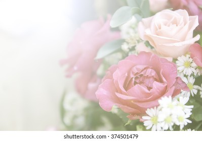 A bouquet of beautiful roses with a color filter.