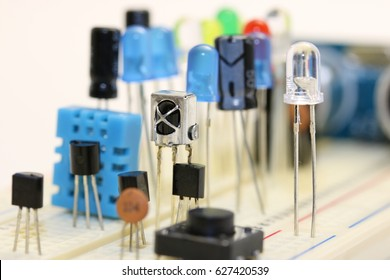 Bouquet of brand new electronic components