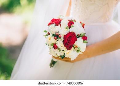 Bouquet In Bride`s Hands