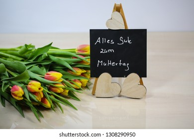 Bouquet with chalk board, Happy Mother's Day