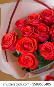 Bouquet of cute red roses