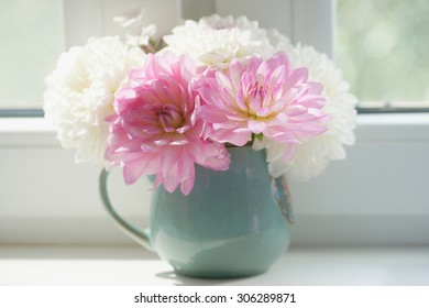 Bouquet of dahlias