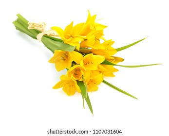 Bouquet of daylily flower on a white background
