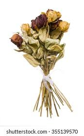 bouquet of dead roses