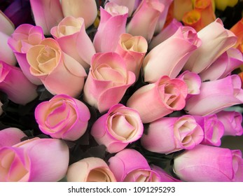 Bouquet of decorative wooden roses