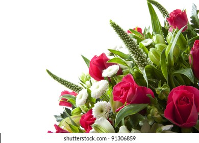 Bouquet with different kind of flowers for background use