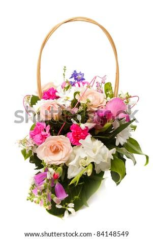 Bouquet Different Pink Seasonal Flowers September Stock Photo Edit