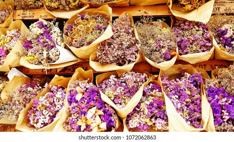 Bouquet of dried flowers.