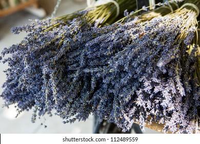 Bouquet of dried Lavandin, Fontaine-de-Vaucluse, Vaucluse, Provence, France