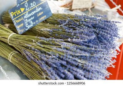 Bouquet of dried Lavandin, Sault, Provence, France