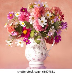 bouquet of flowers autumn in a vase